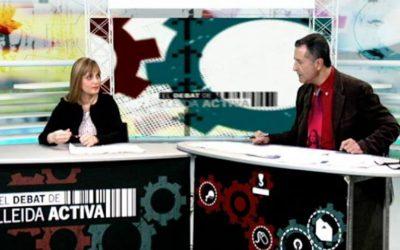 En el debate de Lleida Activa hablando sobre la situación legal del cáñamo