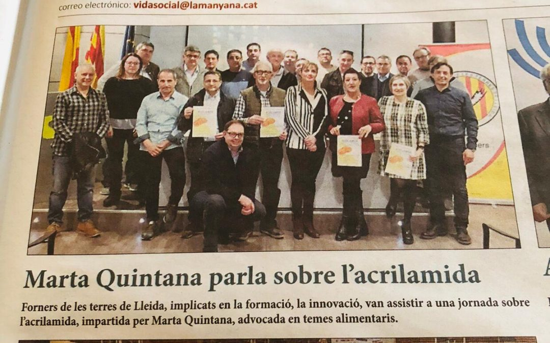 Jornada acrilamida en el Gremi de Forners de Lleida