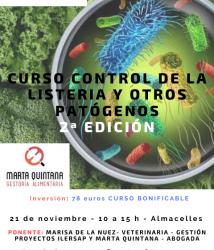 2ª Edición Curso Control de la listeria y otros patógenos