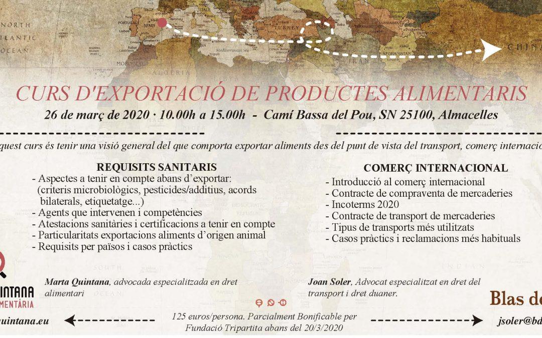 Curso exportación de productos alimentarios